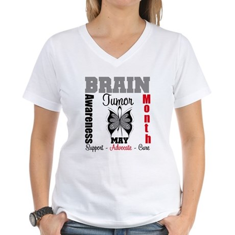 BrainTumorAwareness Women's V-Neck T-Shirt