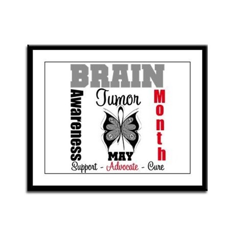BrainTumorAwareness Framed Panel Print