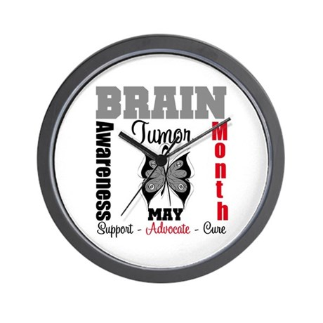 BrainTumorAwareness Wall Clock