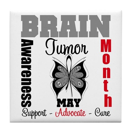 BrainTumorAwareness Tile Coaster