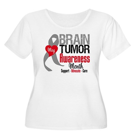 Brain Tumor Month Women's Plus Size Scoop Neck T-S