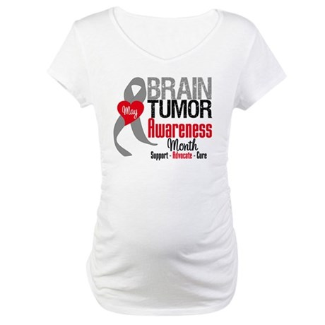 Brain Tumor Month Maternity T-Shirt