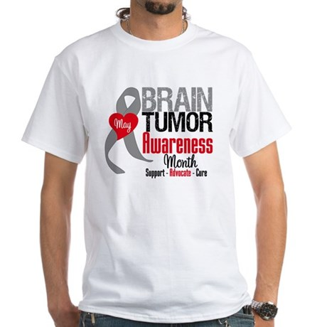 Brain Tumor Month White T-Shirt