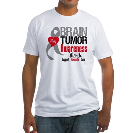 Brain Tumor Month Fitted T-Shirt