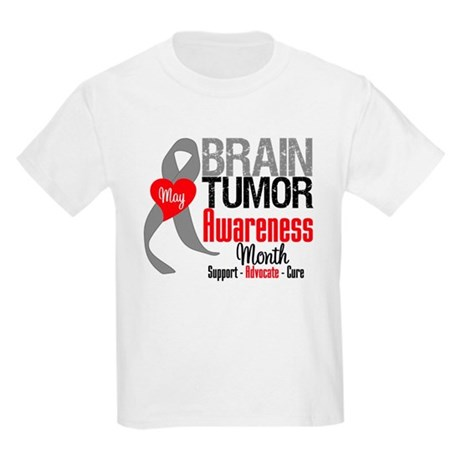 Brain Tumor Month Kids Light T-Shirt