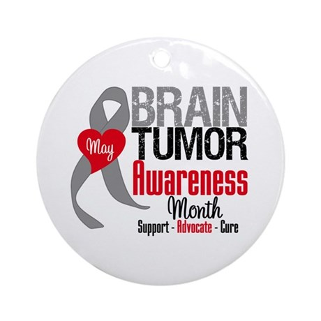 Brain Tumor Month Ornament (Round)