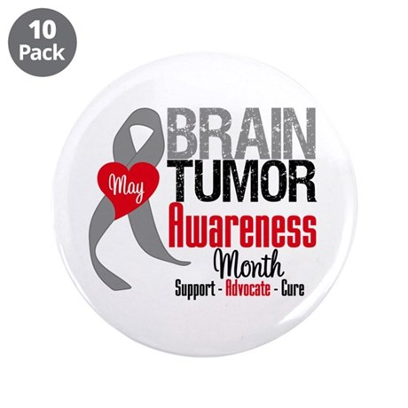 "Brain Tumor Month 3.5"" Button (10 pack)"