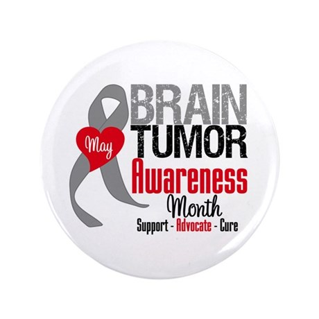 "Brain Tumor Month 3.5"" Button (100 pack)"