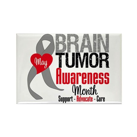 Brain Tumor Month Rectangle Magnet