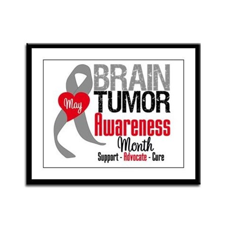 Brain Tumor Month Framed Panel Print