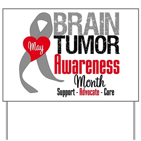 Brain Tumor Month Yard Sign