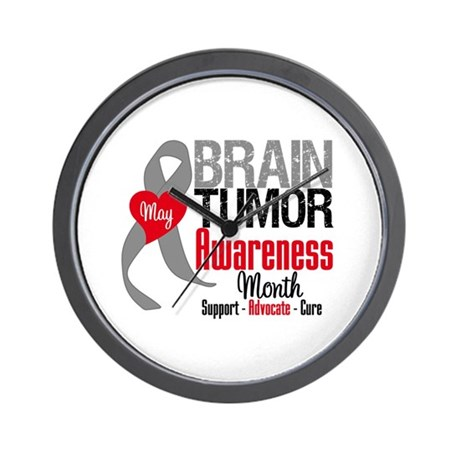 Brain Tumor Month Wall Clock