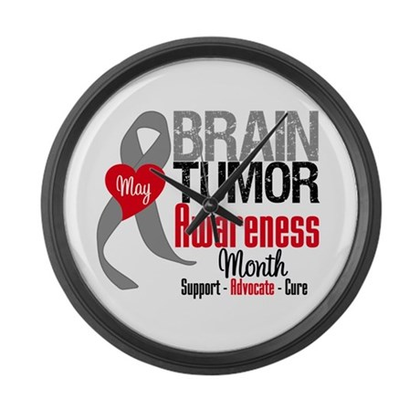 Brain Tumor Month Large Wall Clock