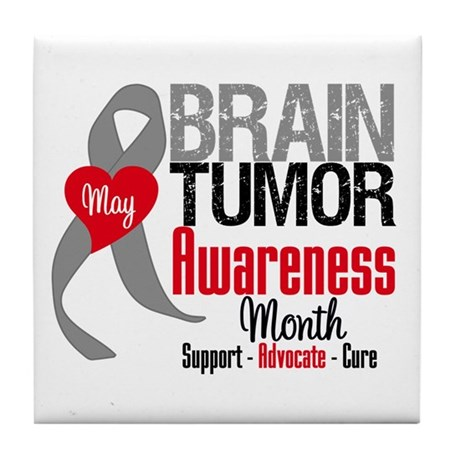 Brain Tumor Month Tile Coaster