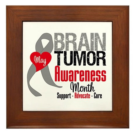 Brain Tumor Month Framed Tile