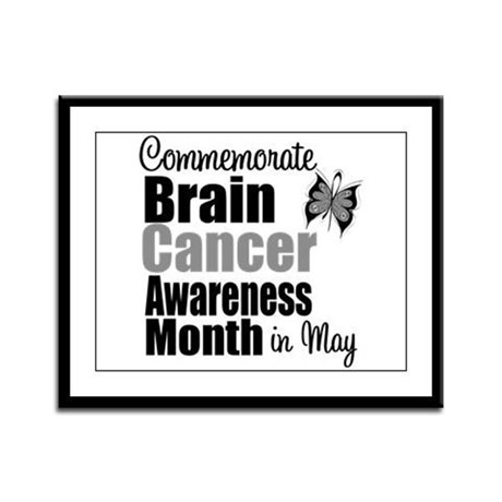 Brain Cancer - May Framed Panel Print