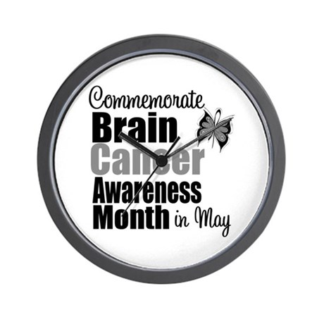 Brain Cancer - May Wall Clock