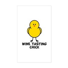 Wine Tasting Chick Rectangle Decal