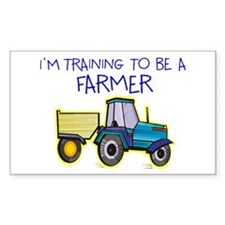 I'm Training To Be A Farmer Rectangle Decal