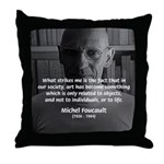 Social Criticism: Foucault Throw Pillow
