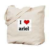 I Love ariel Tote Bag