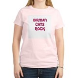 BIRMAN CATS ROCK Women's Pink T-Shirt