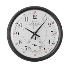 Waltham Railroad Pocket Watch 2 Large Wall Clock
