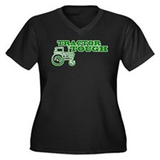 Tractor Tough Women's Plus Size V-Neck Dark T-Shir