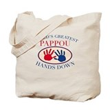 Best Pappou Hands Down Tote Bag