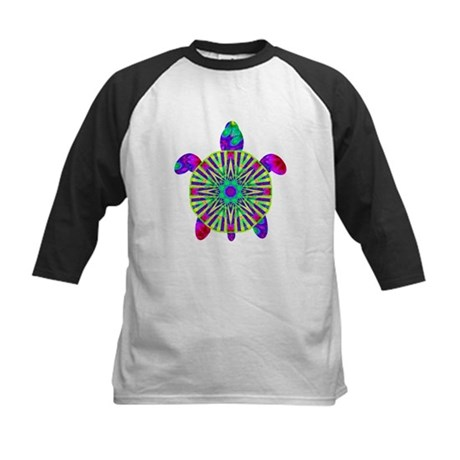 Colorful Sea Turtle Kids Baseball Jersey