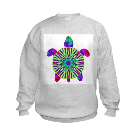 Colorful Sea Turtle Kids Sweatshirt