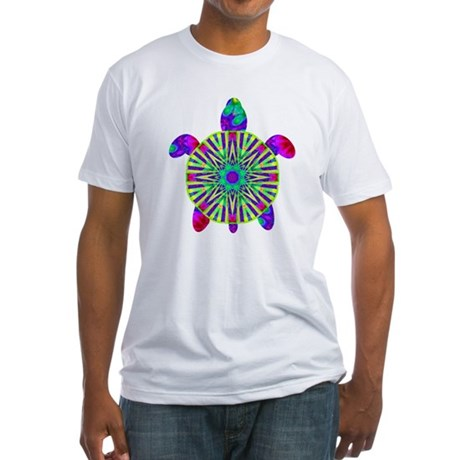 Colorful Sea Turtle Fitted T-Shirt