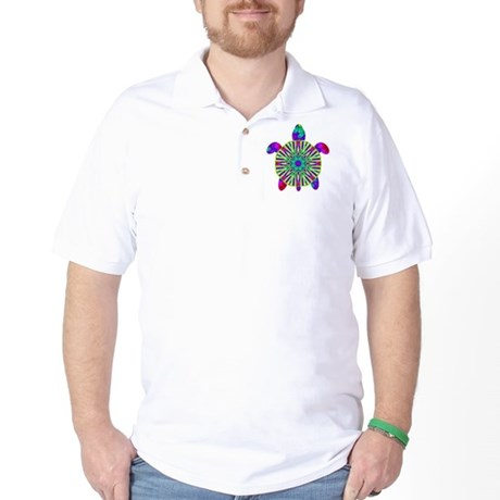 Colorful Sea Turtle Golf Shirt
