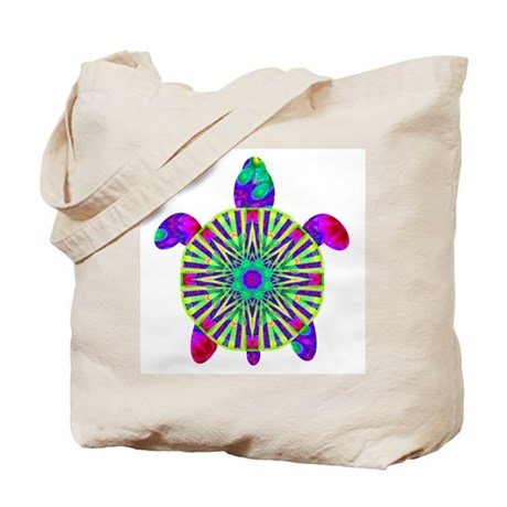 Colorful Sea Turtle Tote Bag