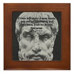 Epicurus Self Control Framed Tile