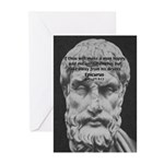 Epicurus Self Control Greeting Cards (Pk of 10