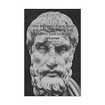 Epicurus Self Control Mini Poster Print