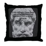 Epicurus Self Control Throw Pillow