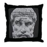 Epicurus Self Control Throw Pillow