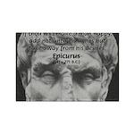 Epicurus Self Control Rectangle Magnet (10 pack)