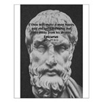 Epicurus Self Control Small Poster