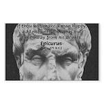 Epicurus Self Control Rectangle Sticker