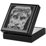 Epicurus Self Control Keepsake Box