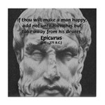Epicurus Self Control Tile Coaster