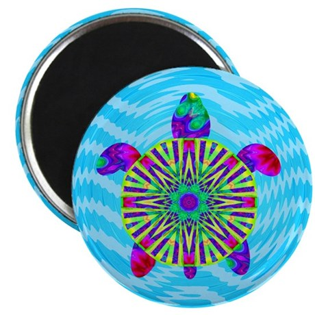 "Colorful Sea Turtle 2.25"" Magnet (10 pack)"