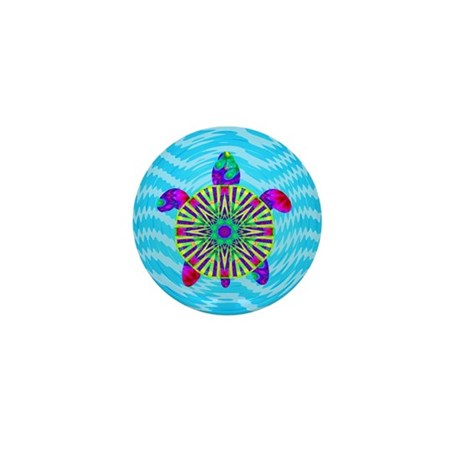 Colorful Sea Turtle Mini Button (10 pack)