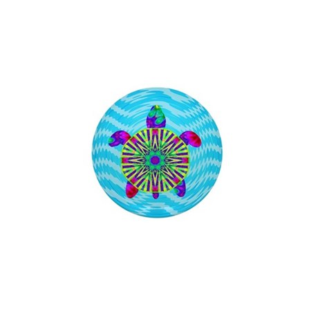 Colorful Sea Turtle Mini Button