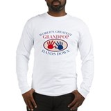 Best Grandpop Hands Down Long Sleeve T-Shirt