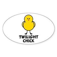 Twilight Chick Oval Decal