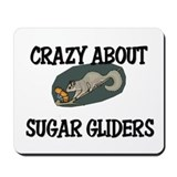 Crazy About Sugar Gliders Mousepad